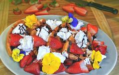 Breakfast_Excess-sm (Guyser1) Tags: food berries waffles chocolatesauce whippedcream breakfast westyellowstone canonpowershots95 pointandshoot