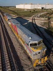 New Rio Tinto GE's 9131, 9129 at GE Plant, Fort Worth, TX (blair.kooistra) Tags: australia fortworth ge generalelectric ironore pilbara railroads texas