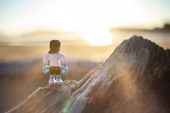 Dream big, wanderer boy! (The eclectic Oneironaut) Tags: 2018 6d canada canon eos selected wanderer boy dream sunset atardecer sun british columbia vancouver island long beach log toys sunflare yongnuo