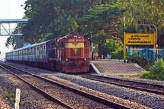 MZL - KCG Pass. (B V Ashok) Tags: mzlkcg mirzapallikacheguda passenger 57486 scr mob manoharabad gtl guntakal wdg3a 13258 shakti alco flickrtravelaward