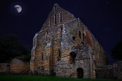 Battle Abbey (andycurrey2) Tags: history architecture ruin night abbey battle sky stars building moonlight 1066