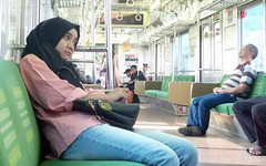 I can't stop thinking of you (Muhammad Pascal Fajrin) Tags: girl station train jakarta indonesia asian megane hijab perempuan wanita art woman