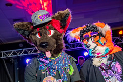 DSC09062 (Kory / Leo Nardo) Tags: pacanthro pawcon paw con pac anthro convention fur furry fursuit suiting mascot sona fursona san jose doubletree hotel california dance party deck animals costuming pupleo 2018
