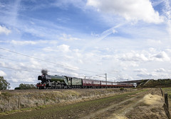 Unseasonal (4486Merlin) Tags: 60103 ecml england europe exlner flyingscotsman lnerclassa3 northyorkshire railways steam transport unitedkingdom eggborough gbr burn farewelltoalanpegler steamdreams