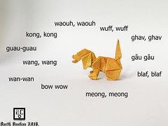 Aboiement d'un petit chien - Barth Dunkan. (Magic Fingaz) Tags: anjing barthdunkan chien chó dog hond hund köpek origami paperfolding perro pies пас пес собака หมา 개 犬 狗