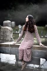 Misty Graveyard (oshcan) Tags: model concept girl woman graveyard nikon d4s