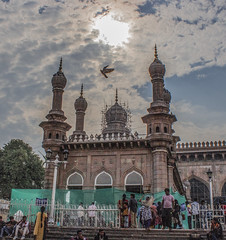 Mecca Masjid, is one of the oldest mosques in Hyderabad, Telangana in India, and it is one of the largest masjids in India. Makkah Masjid is a listed heritage building in the old city of Hyderabad, close to the historic landmarks of Chowmahalla Palace, La (akashunnikrishnan) Tags: monument night indian masjid culture history place past photography photo india beauty learning picture photoday photos point sky birds nature love part photoofday pictureoftheday photograph photographer hdr shade black color naturephotography monumentofindia indianculture makkahmajid hyderabad telangana aisa