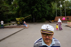 Almaty, Kazakhstan (f.d. walker) Tags: almaty asia centralasia kazakhstan layers streetphotography street surreal hat sailor park candidphotography candid color colorphotography city clothes