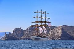 DSC_7661 (yuhansson) Tags: фрегат херсонес море чёрное парусник крым паруса парус корабли корабль путешествие путешествия югансон юрий boat sea sky water vessel ship sailing новыйсвет судак