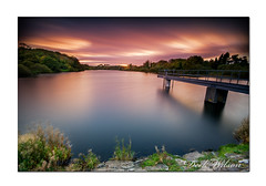 Portavoe Sunset (Deek Wilson) Tags: portavoe reservoir sunset sky clouds longexposure jetty water lake leebigstopper northdown donaghadee groomsport landscape