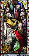 Melton Mowbray, St Mary's church, window detail (Jules & Jenny) Tags: meltonmowbray stmaryschurch stainedglasswindow
