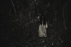 You should run. (3rd-Rate Photography) Tags: girl ghost demon spirit haunted woods halloween monochrome doll canon 50mm 5dmarkiii jacksonville florida 3rdratephotography earlware 365 nature