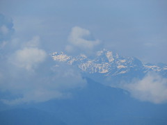 The Himalays Through The Clouds (Give-on) Tags: asia nepal himalaya mountain clouds snow peak landscape viewpoint nagarkot