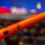 Ein orangefarbiger Boomwhacker Instrument beim TEDxVenlo 2018 thumbnail