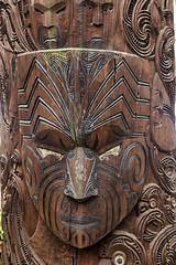 Maori Sculpture at Te Puia Cultural Center, North Island, Rotorua, NZ (Jim 03) Tags: te puia historic whakarewarewa geothermal vally rotorua famous pōhutu geyser mud pools hot springs silica formations national school wood carving weaving stone bone new zealand maori sculpture jim03 jimhoffman jhoffman jim wwwjimahoffmancom wwwflickrcomphotosjhoffman2013