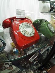 red dog & bone (chrisinplymouth) Tags: telephone vintage red dial gpo classic fisheye plymouth devon england uk city cw69x xg retro gpo746