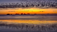 Cat and Kittens Rocks at sunset, Bandon, Oregon (Jeffrey Sullivan) Tags: bandon oregon nature travel photography pacific ocean coast usa seascape september canon eos 5dmarkiv photo copyright 2018 jeffsullivan allrightsreserved