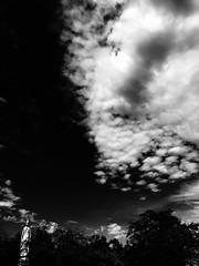 Seeking Peace (lesliegill) Tags: 2018 blackandwhite clouds fall hot iphone7plus japan minimalism september shotoniphone sky sunny tiffendfx