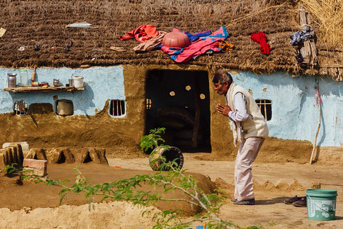 Mourning Man, Village in Uttar Pradesh India