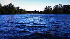 Borzongó sötétség (Szombathely) (milankalman) Tags: lake waves blue water wind cold autumn