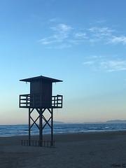 Cullera (Valencia) (MarisaTárraga) Tags: españa spain valencia cullera playa beach arena sand cielo heaven agua water mar sea iphone6s
