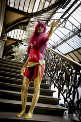 Dark Phoenix lost in Gare de Lyon (Because Play Photographie) Tags: cosplay cosplayer cosplaygirl woman femme paris garedelyon parcdebercy darkphoenix phenix phoenix xmen jeangrey xmencosplay canoneos5dmarkiv canon eosdigital eos 5dmarkiv portrait pleinpied gare parc bercyvillage modèle model