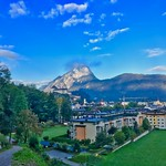 Morning view over Kufstein with fortress and Pendling mountain, Tyrol, Austria thumbnail