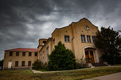 small church in the oncoming storm (Windswept.west) Tags: marfa texas clouds sky nikond5200 tamron247028 church storm