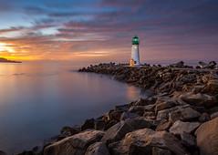 Walton Lighthouse (Juan Pablo J.) Tags: longexposurephotography landscapes landscape lighthouse sunrise sky santacruz walton seascape seashore california clouds canon5dmkii color canon24105mmf4l coast coastline