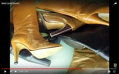 used leather boots (heelrubberboots) Tags: boots vintage heel rubber leder leather high heels