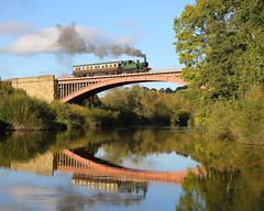 Victoria Bridge (Treflyn) Tags: victoria bridge classic branch line scene gwr 14xx 1400 tank engine class 042 1450 autocoach cross river severn 30742 charters photographic day photo charter svr valley railway
