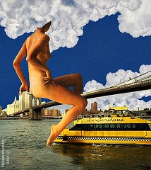 Art: Cloud over Brooklyn - By SilviAne Moon. (Silviane Moon) Tags: digitalart digitalcollage digitalpainting surreal surrealcollage surrealism surrealistic photomanipulation cloud brooklyn newyork vintage nude naked woman art drawing canvas wood painting society6 s6 silvianemoonart