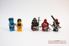 Underworld: Slavers (darth85) Tags: minifig star wars minifigures figbarf slavers underworld starwars swlego lego twilek droid weequay slave