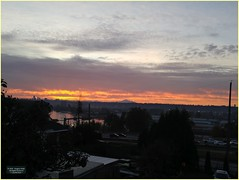 New Westminster Station Sunrise BC18j06 LG (CanadaGood) Tags: canada bc britishcolumbia newwestminster sunrise mountain mountbaker river fraserriver canadagood 2018 thisdecade color colour cameraphone morning