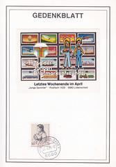 Deutsche Briefmarken (micky the pixel) Tags: briefmarke stamp ephemera deutschland bundespost berlin bettinavonarnim gedenkblatt tagderjungenbriefmarkenfreunde
