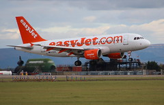 """EASYJET G-EZIH Airbus A319-111 flight EZY9092 from Liverpool LPL on Crew Training landing on Runway 23 at """"Durham Tees Valley Airport"""" MME England UK (thelastvintage) Tags: easyjet gezih airbus a319111 flight ezy9092 from liverpool lpl crew training landing runway 23 durhamteesvalleyairport mme england uk first date 20042005 09052005"""