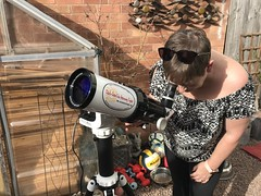 Observing the Sun (Sarah and Simon Fisher) Tags: solar solarobserving skywatcher solarquest goto trackingmount lunt 60mm b1200 astrophotography astronomy sun prominence sunspots solareclipse solartransit solarsurfacedetails bromsgrove worcestershire uk
