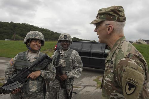 Major General Allen Harrell tours the U.S. Military Academy