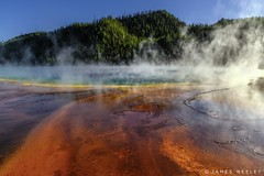 Just A Glimpse (James Neeley) Tags: yellowstone yellowstonenationalpark ynp landscape grandprismaticspring midway jamesneeley