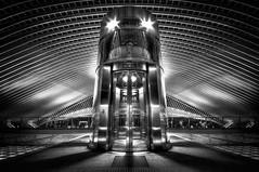 Railway Station XVII (ramstyle pictures) Tags: railwaystation railway elevator hal monochrom blackwhite bw schwarzweis sw ramstyle ramstylepictures darkstyle darkstylereloaded nikon