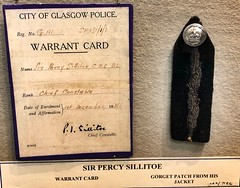 Glasgow Police Museum - Glasgow Scotland - 2/10/18 (DanoAberdeen) Tags: chiefconstable sirpercysillitoe card warrant gorgetpatch police museum history olddays vintage memorabilia candid amateur medals cap insignia 2018 enforcement policescotland strathclydepolice badge pin plaque sempervigilo bluelights bobbies oldbillauthority policeofficer woman man law justice barlinnie emergencyservices scottish force ranking constable chief 60s 70s 80s glasgowpolicemuseum glasgowscotland handcuff handcuffs restrained detained guilty
