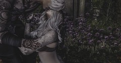 A moment (☢.:Myth:.☢) Tags: anypose secondlife sl mine kneel kiss his heart