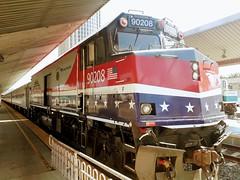 "Amtrak 90208 ""Veterans Unit"" (cass012) Tags: amtrak special locomotive los angeles union station california united states america usa railway railroad"