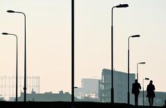 Urban Life (Edinburgh Photography) Tags: outdoors urban city people walking silhouettes monochrome black white documentary photojournalism granton nikon d7000