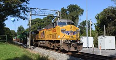 UP K-LBNS 9/18/18 (tjtrainz) Tags: up union pacific klbns intermodal train bovina ms mississippi kcs kansas city southern meridian subdivision ac4400cw sd70m ge general electric emd electro motive division high wide defect detector water tower