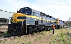 C501 & C507 (rob3802) Tags: beyondblue c501 cclass vr victorianrailways cootamundra locomotive loco locodepot diesel diesellocomotive dieselelectriclocomotive railway rail railyard