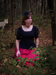 Lost (blackietv) Tags: princess black red long dress tgirl transvestite crossdresser crossdressing transgender outside outdoor