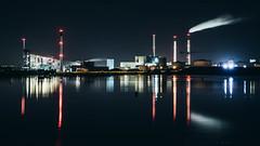 Refshaleøen by Night (JamieDieu) Tags: nightphotography night nikon long exposure blue industry power plant