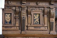 Celle, Niedersachsen, Stadtkirche St. Marien, choir stalls, detail (groenling) Tags: celle niedersachsen deutschland de germany stadtkirchestmarien stalls chorgestühl wood carving woodcarving holz inlay intarsia intarsie