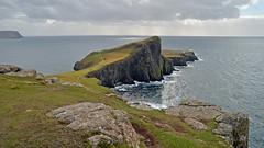 Neist Point... (Harleynik Rides Again.) Tags: neistpoint isleofskye highlands coast sea rocks weather scotland westcoast westernisles harleynikridesagain nikondf lighthouse